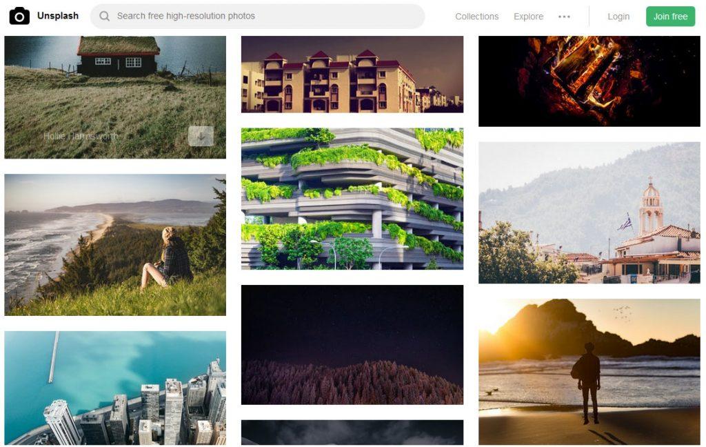Unsplash全球最大的免费下载商用摄影图库网站