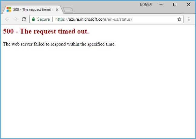 Azure 挂了:云服务被雷击垮了;已持续 22 个小时插图1
