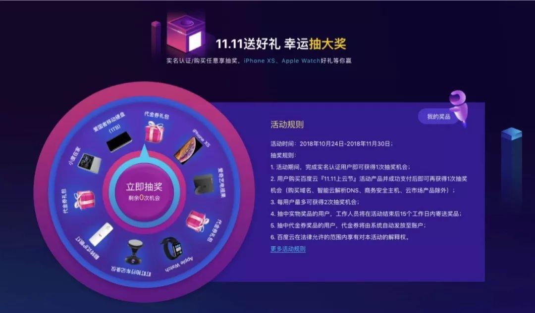 2018年百度云双11购物节优惠活动插图1