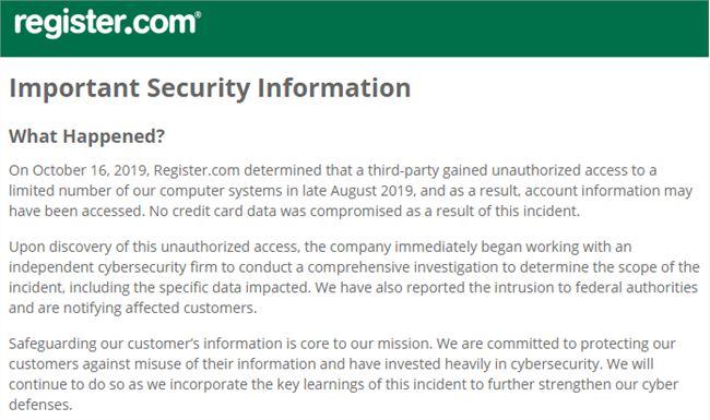 黑客攻破域名注册商Web.com安全防线 客户私密信息或被泄露插图2