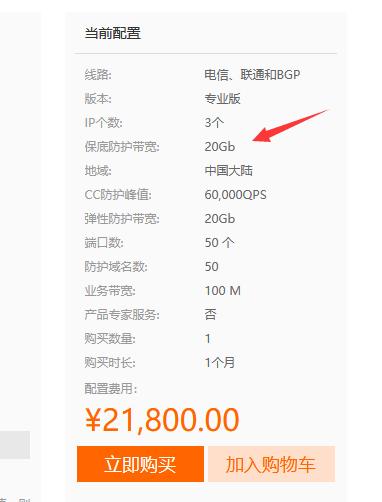 阿里云DDoS高防IP是如何收费的