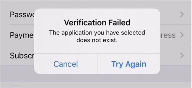 """苹果iCloud云服务宕机 提示""""你选择的应用不存在"""""""