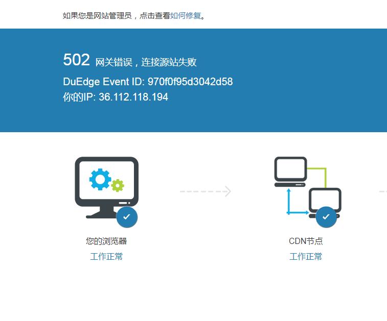 网站使用CDN出现502错误原因插图
