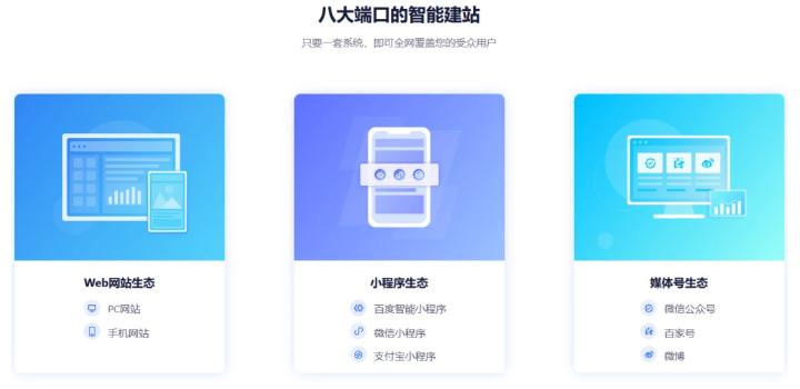 百度aipage智能建站系统PC网站/手机网站/微信/百度/支付宝小程序插图1