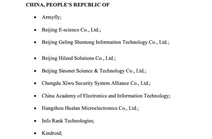 """美国又将中国22 家企业列入""""黑名单""""了插图1"""