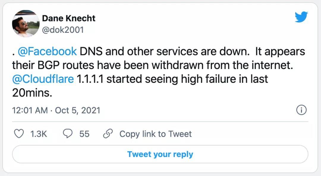 又一起BGP路由故障事件:Facebook 大瘫痪,6个小时无法访问插图6