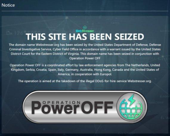 全球最大DDoS服务网站被端后 Europol向151000名用户追责