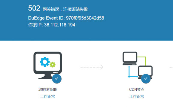 网站使用CDN出现502错误原因