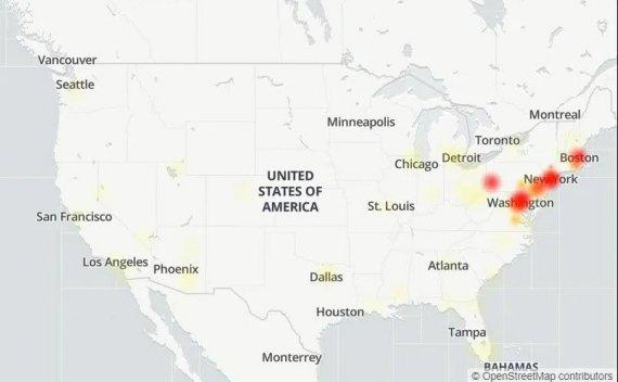 因光缆断掉,美国东海岸地区遭遇大范围的互联网故障