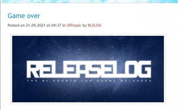 盗版已毫无前途,知名盗版博客网站Releaselog宣布关站